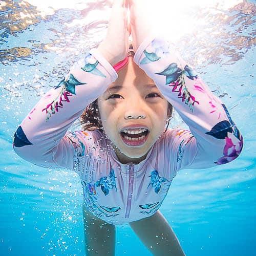 Underwater photography Singapore kids