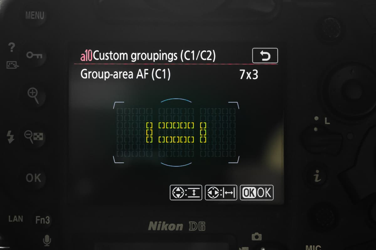 Nikon D6 Group AF
