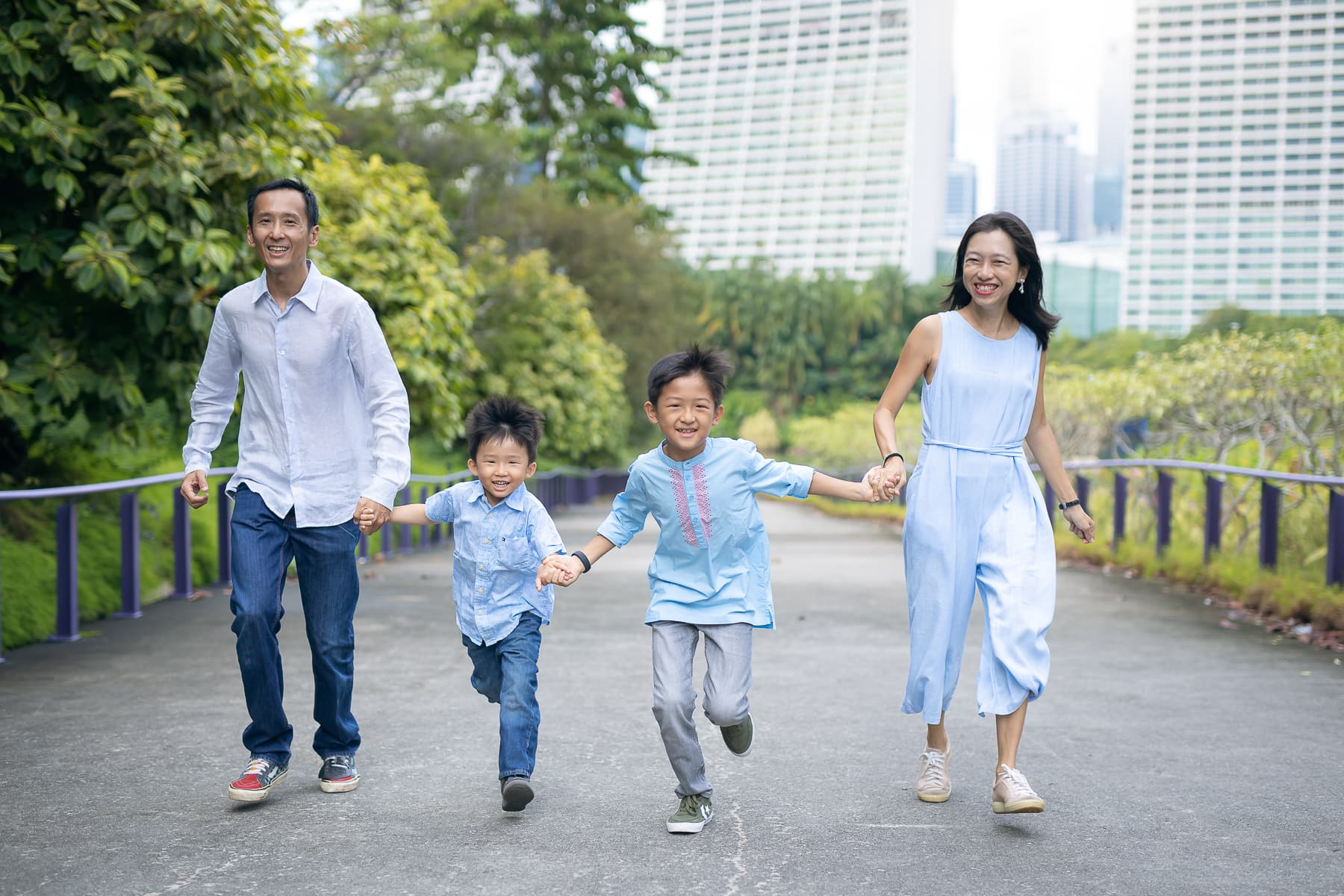 Outdoor family photoshoot singapore