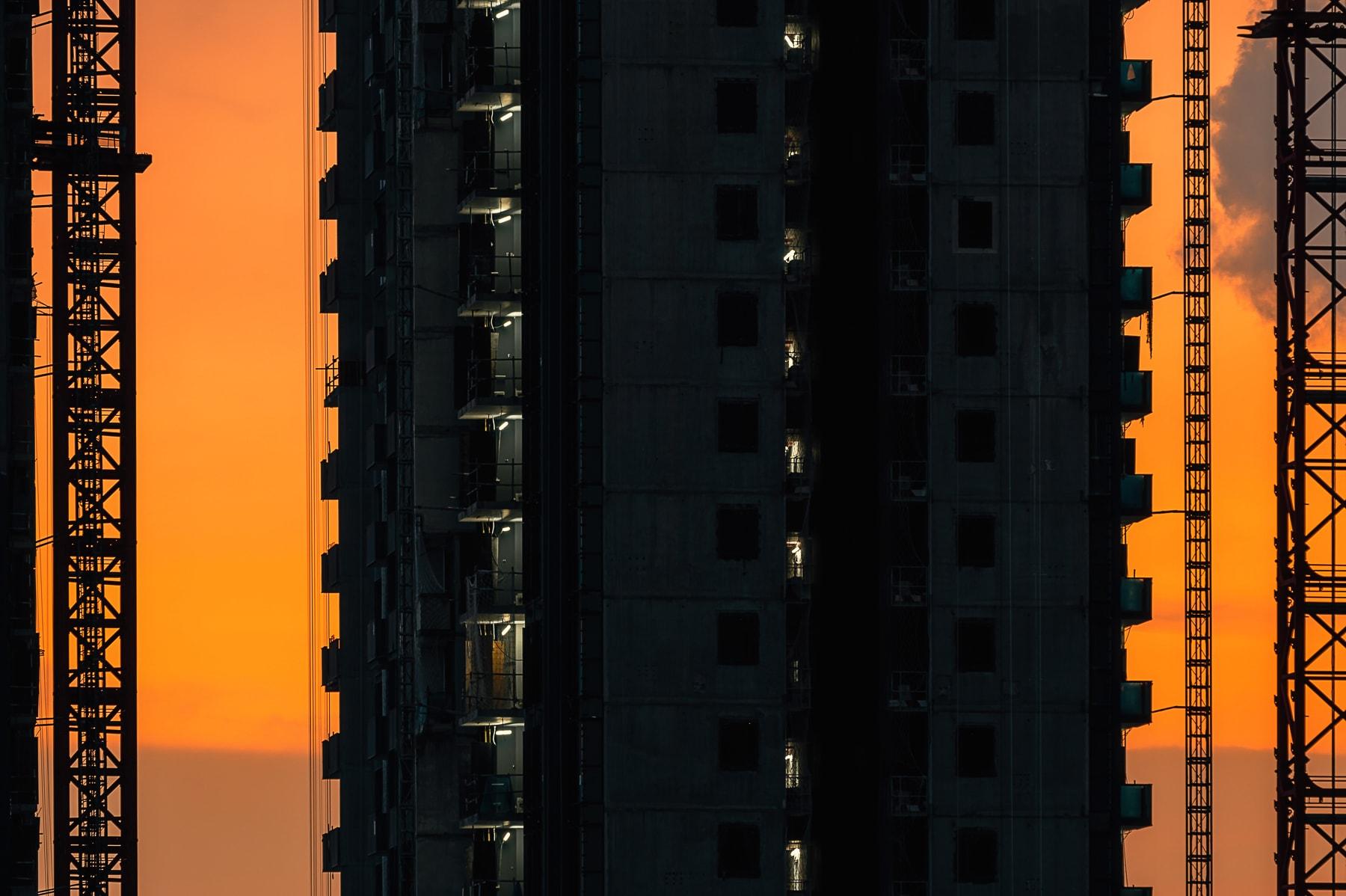 Singapore cityscape sunset